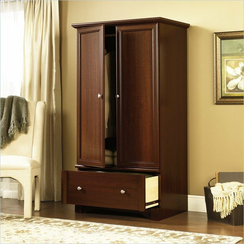 Best Armoire Wardrobe Cabinet Furniture Clothes Wood Storage With Pictures