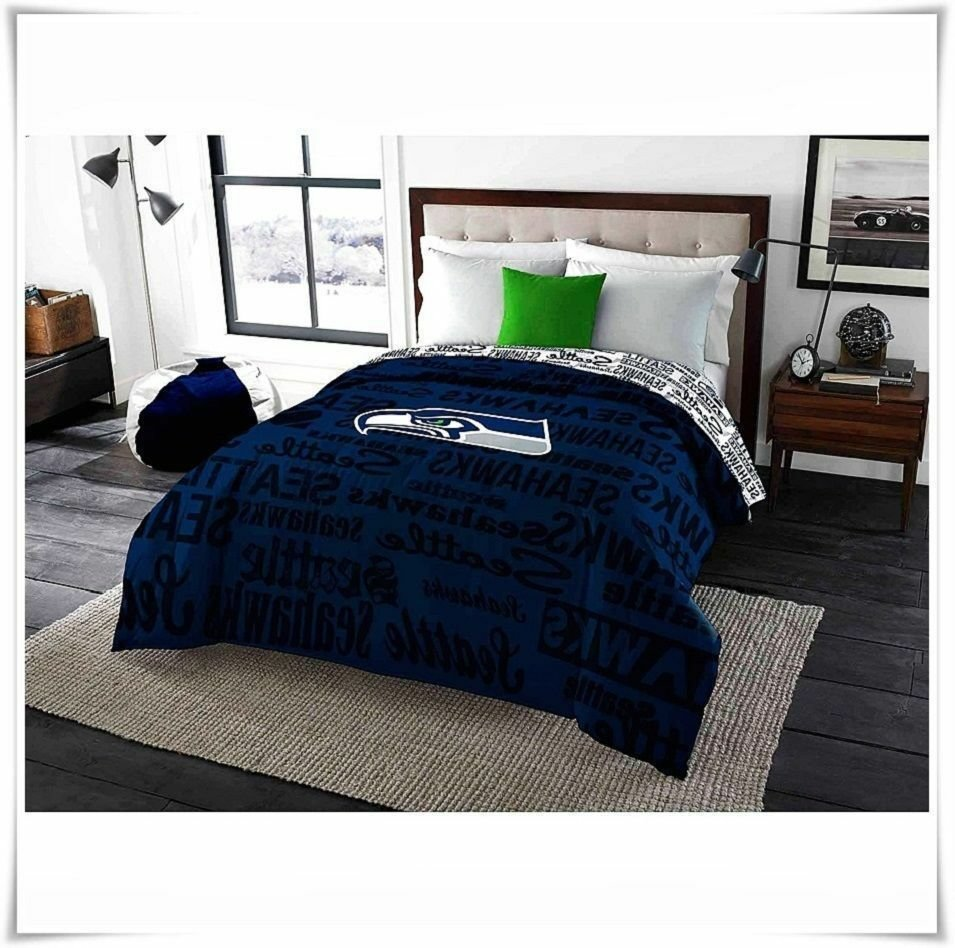 Best Bedding Comforter Twin Full Nfl Seattle Seahawks Bedroom With Pictures