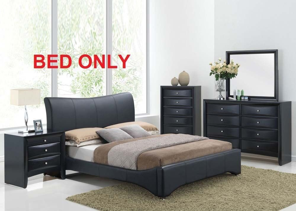 Best Harrison Bedroom Set Modern 1Pc Queen King Size Bed Black With Pictures