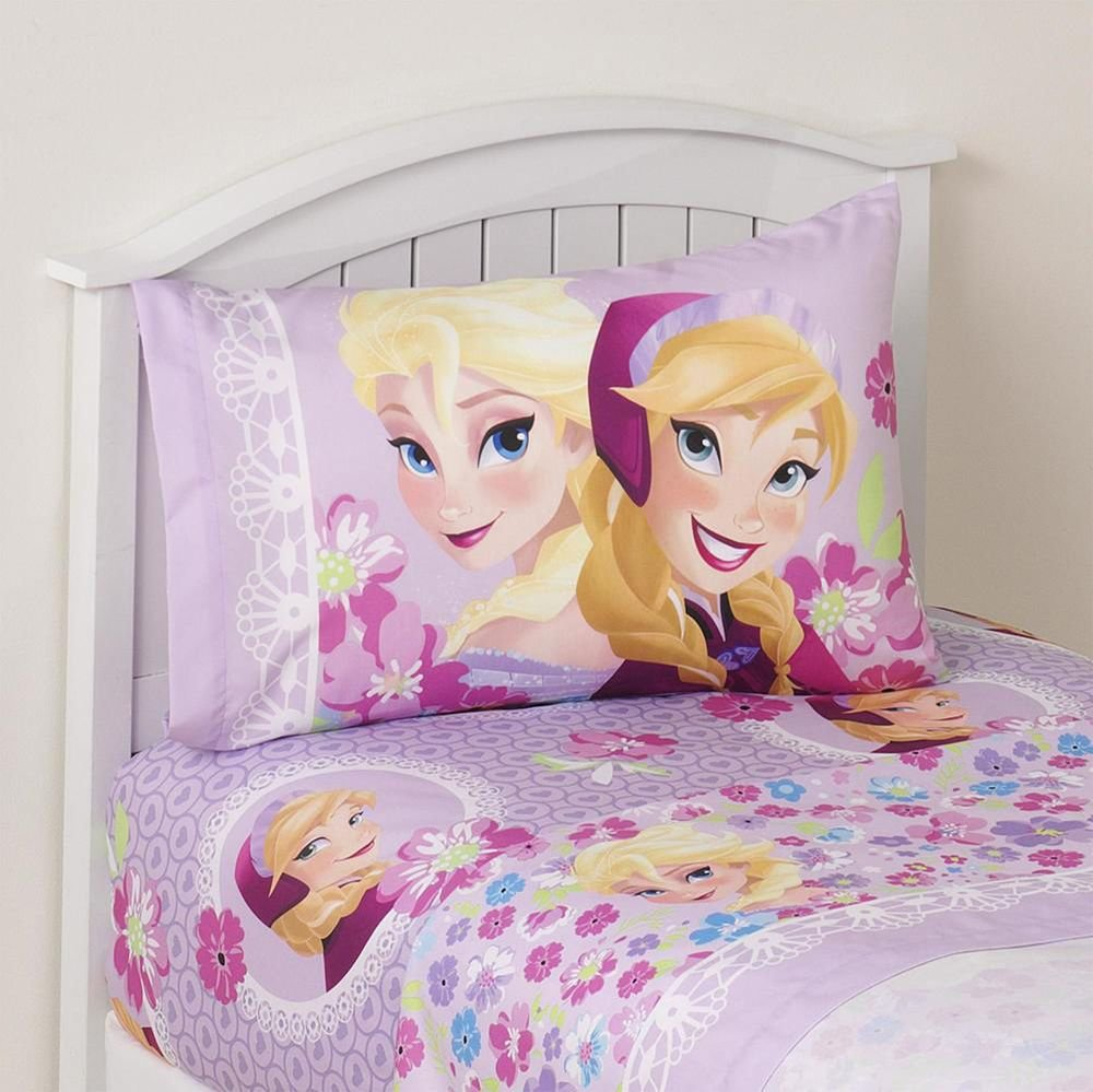 Best Frozen Bed Sheet Set 3 Pc Disney Girls Twin Comforter With Pictures