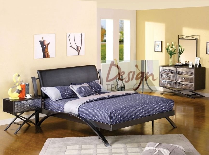 Best 4 Pc Kids Boys T**N Bedroom Set Twin Full Queen Bed Dresser Chrome Metal Modern Ebay With Pictures