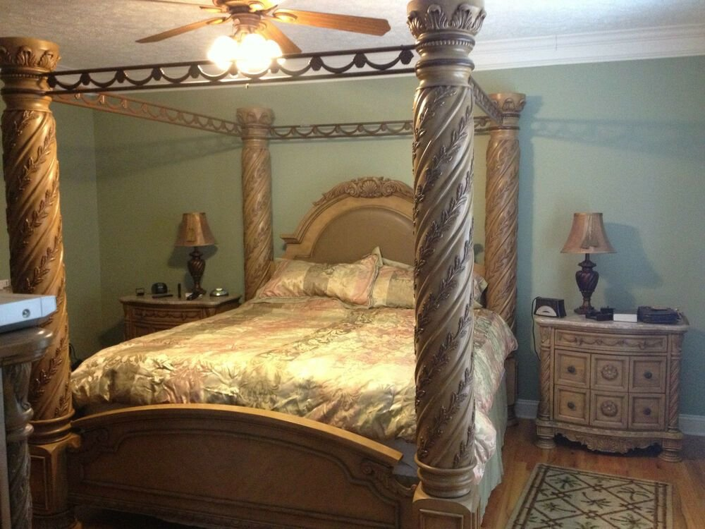 Best North Shore Bedroom Collection King Size Poster Bed With Pictures