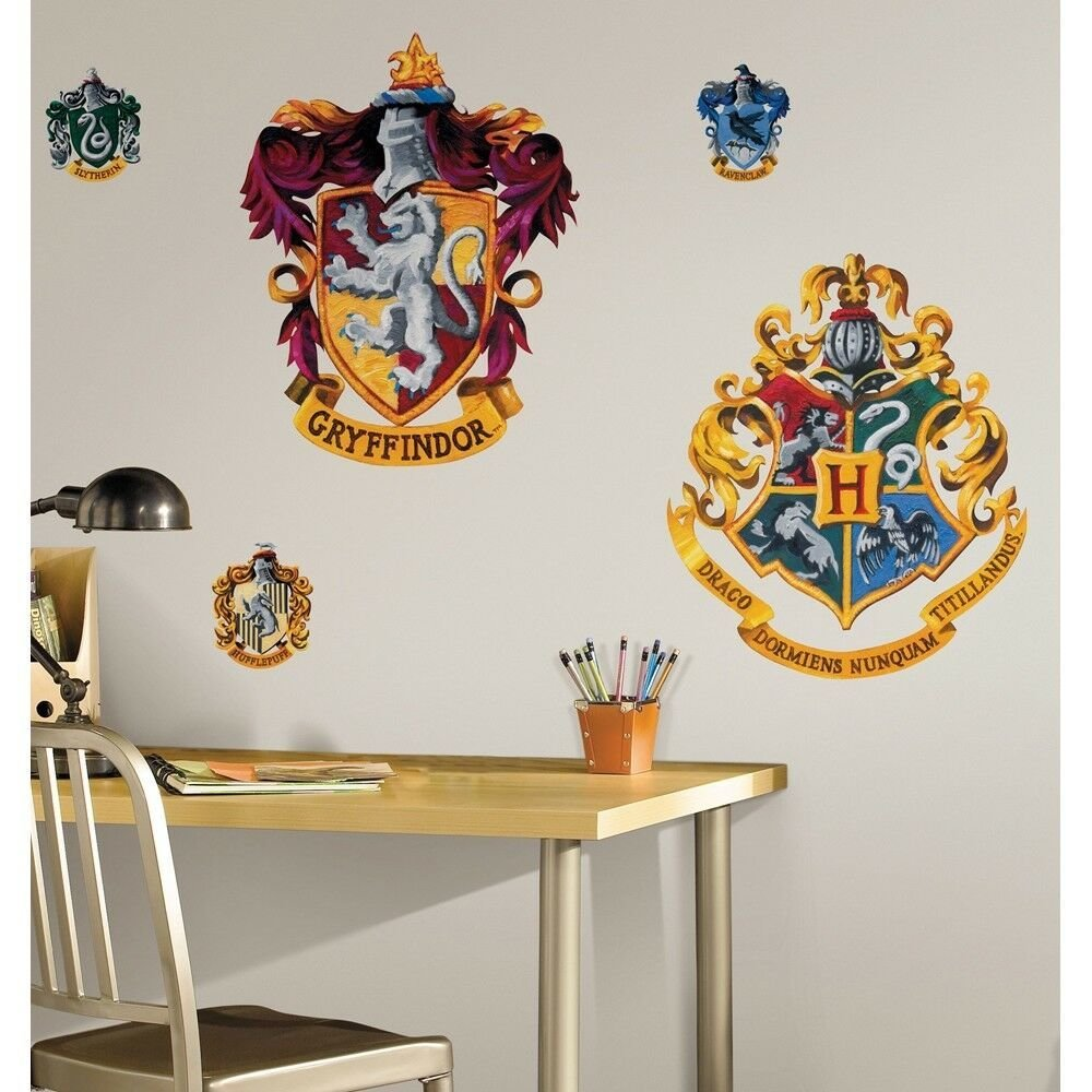 Best New Giant Hogwarts Crests Wall Decals Harry Potter Stickers Kids Bedroom Decor Ebay With Pictures