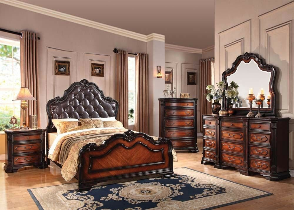 Best Antique Queen King Size Bed Set Bedroom Home Furniture Set With Pictures