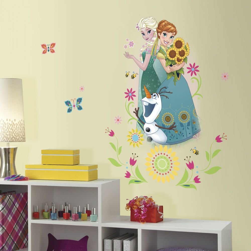 Best Disney Frozen Fever Wall Stickers Mural 6 Decals Anna Elsa With Pictures