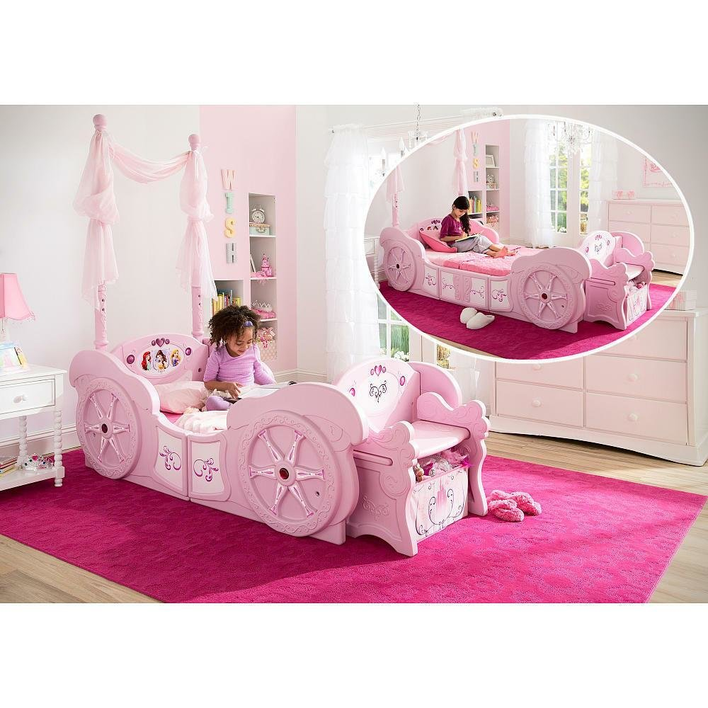 Best Disney Princess Carriage Toddler To Twin Bed Pink Ebay With Pictures