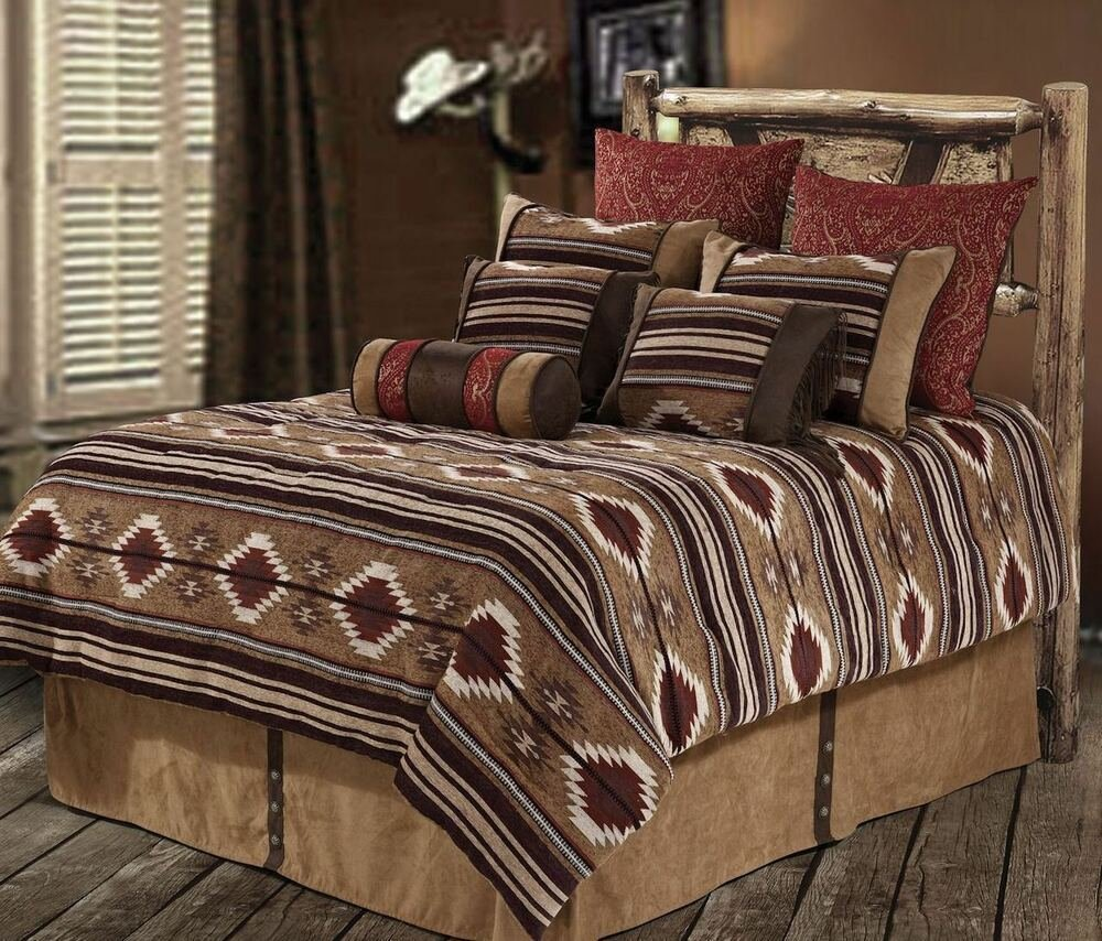 Best New Western Rustic Country Southwest Navajo Comforter 7 With Pictures