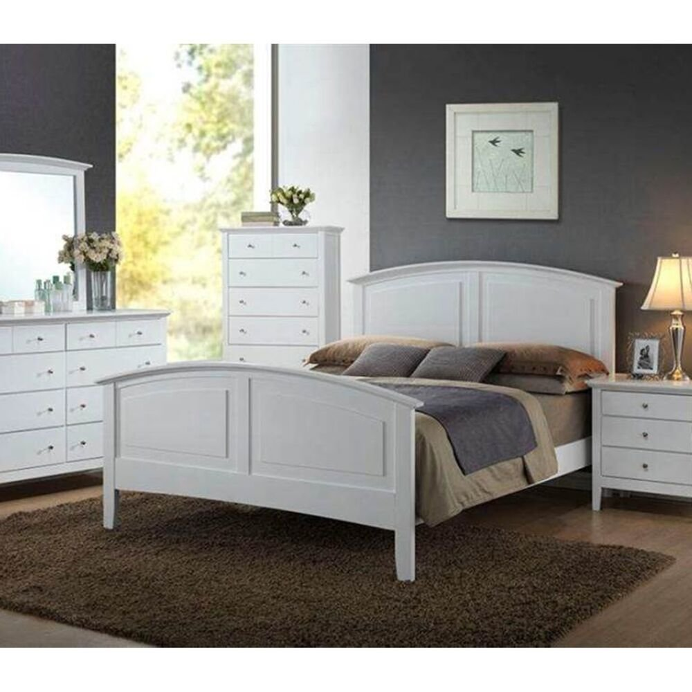 Best Modern Furniture Whiskey Bedroom Set 1Pc White Full Size With Pictures