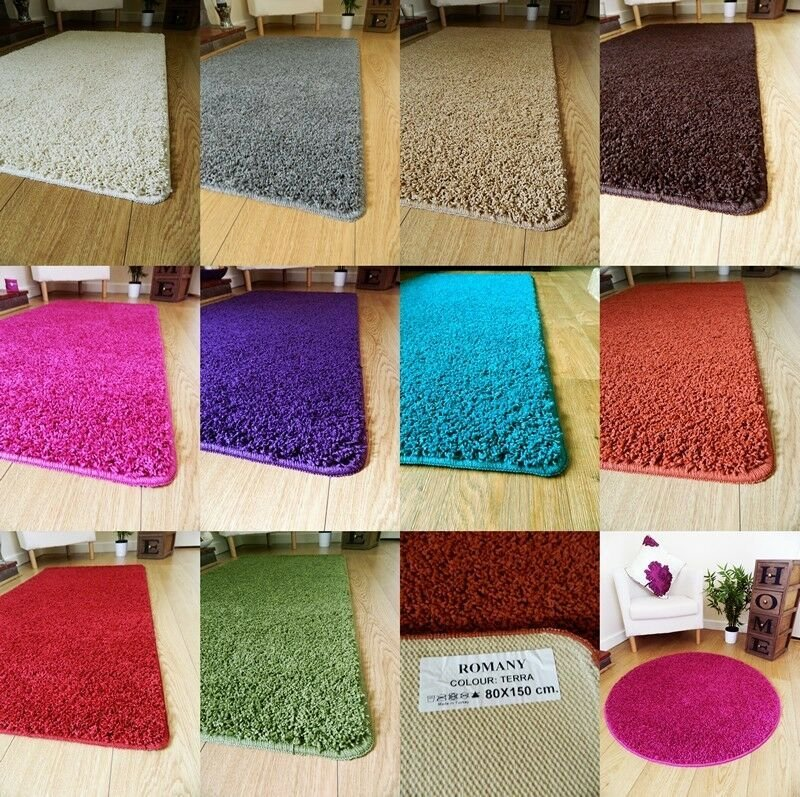 Best New Soft Plain Shaggy Mats Machine Washable Non Slip Large With Pictures