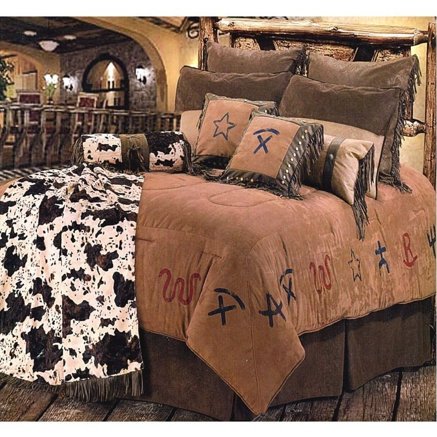 Best New Western Branded Pattern Comforter Bedding Bedroom Set With Pictures