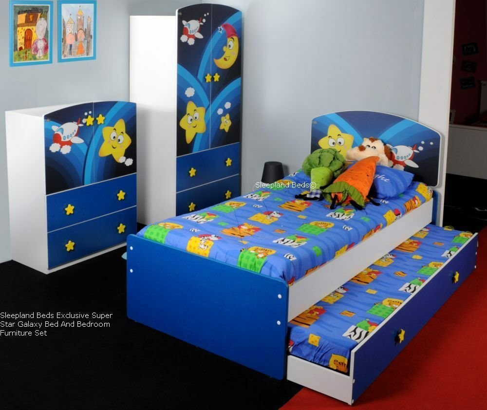 Best New Kids Beds Super Star Blue Boys Bed And Childrens With Pictures
