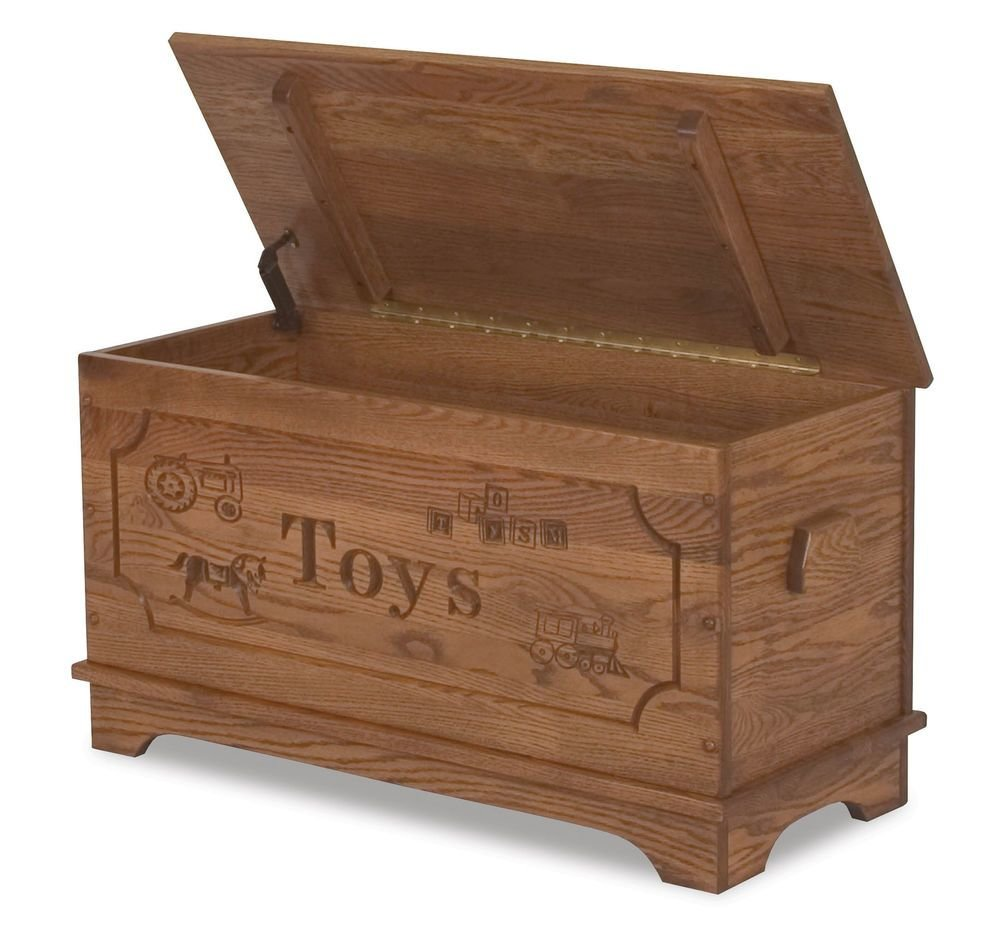 Best Amish Toy Box Storage Chest Blanket Box Trunk Wooden Wood With Pictures
