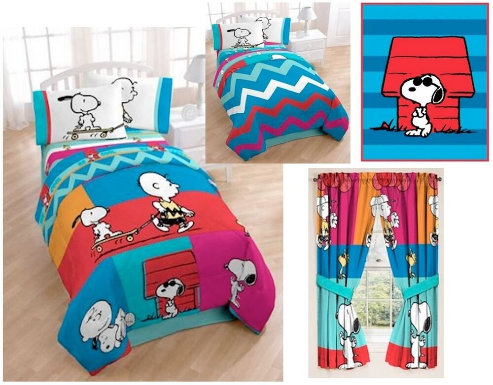 Best Kids Girls Boys Peanuts Charlie Snoopy Bedding Bed In A With Pictures