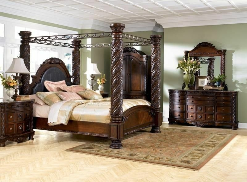 Best 6 Pc North Shore Poster King Bedroom Set Ashley Furniture High End Set Ebay With Pictures