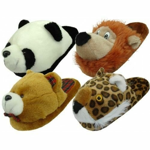 Best Womens Animal House Slippers Plush Fuzzy Cushion Cozy Bedroom Shoes S M L Xl Ebay With Pictures
