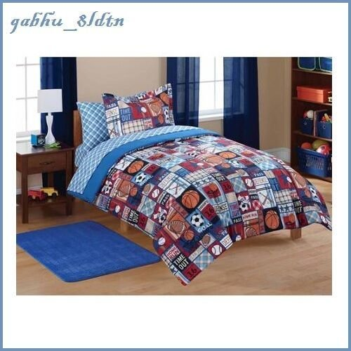 Best 5 Pc Boys Comforter Set Sheet Set Baseball Football Basketball Soccer Twin Ebay With Pictures