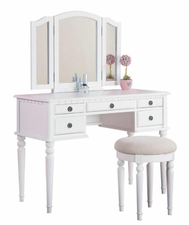 Best Vanity Set For Girls Table Stool Chair 3 Mirror Kids With Pictures