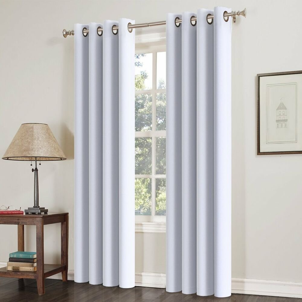 Best 2Pcs Blackout Curtains Thermal Insulated Solid Grommets With Pictures
