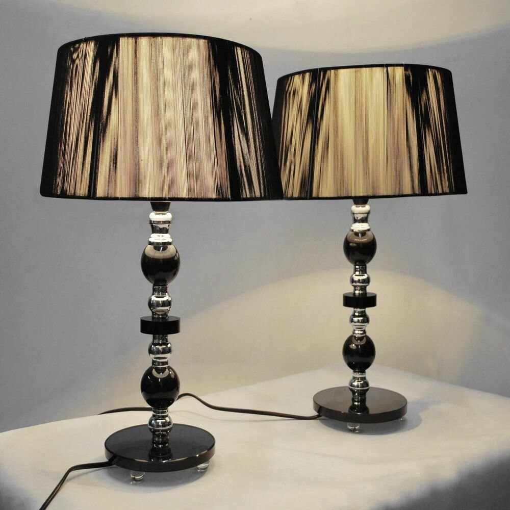 Best Pair Of New Bedside Table Designer Modern Lamps Ebay With Pictures