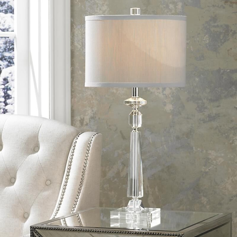 Best Modern Crystal Table Lamp Desk Light Bedside Side Nightstand Bedroom Lighting Ebay With Pictures