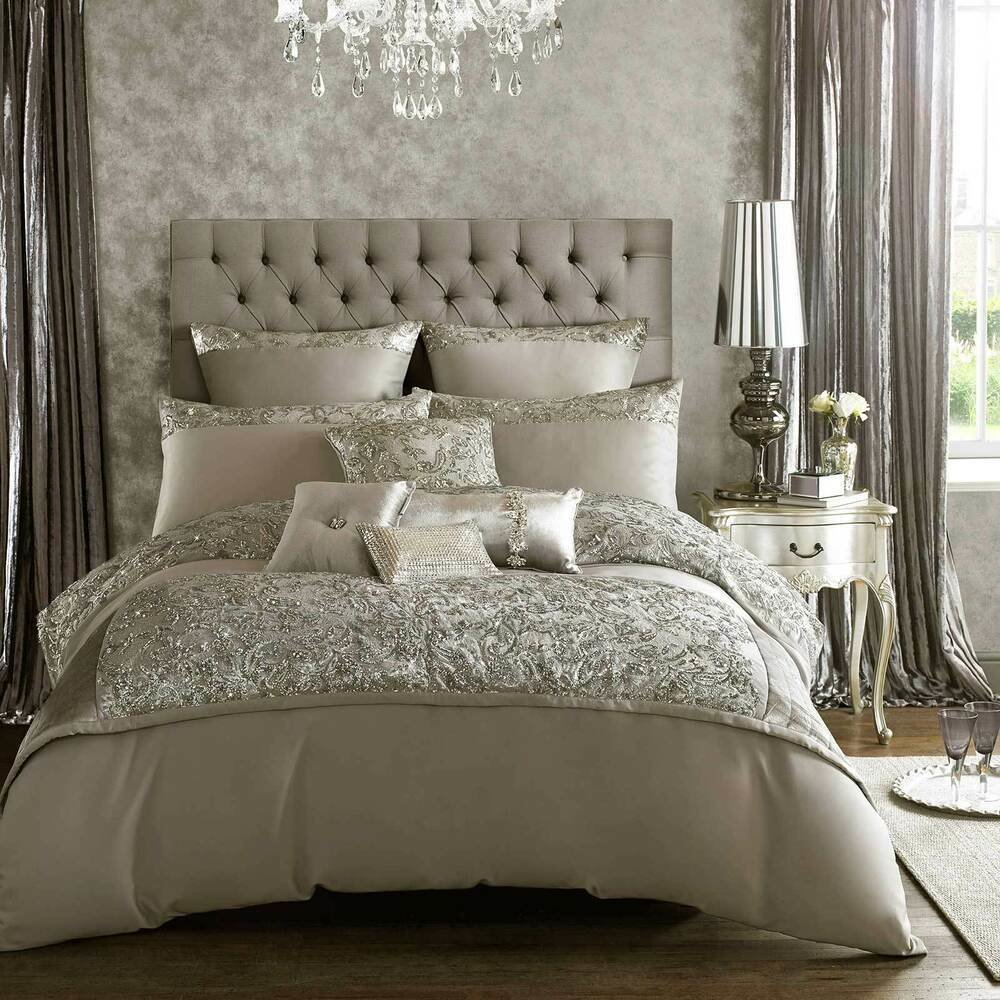 Best Alexa By Kylie Minogue Silver Grey Bedding Duvet With Pictures