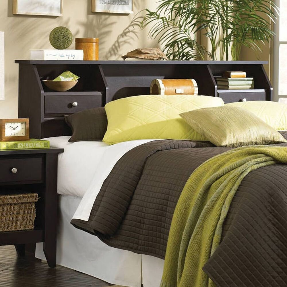 Best Headboard Full Queen Size Bed Bedroom Furniture Bookcase With Pictures