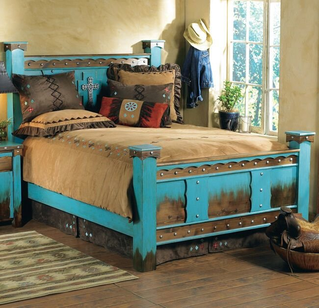 Best Western Outlaw Bed Frame Country Rustic Cabin Log Wood With Pictures