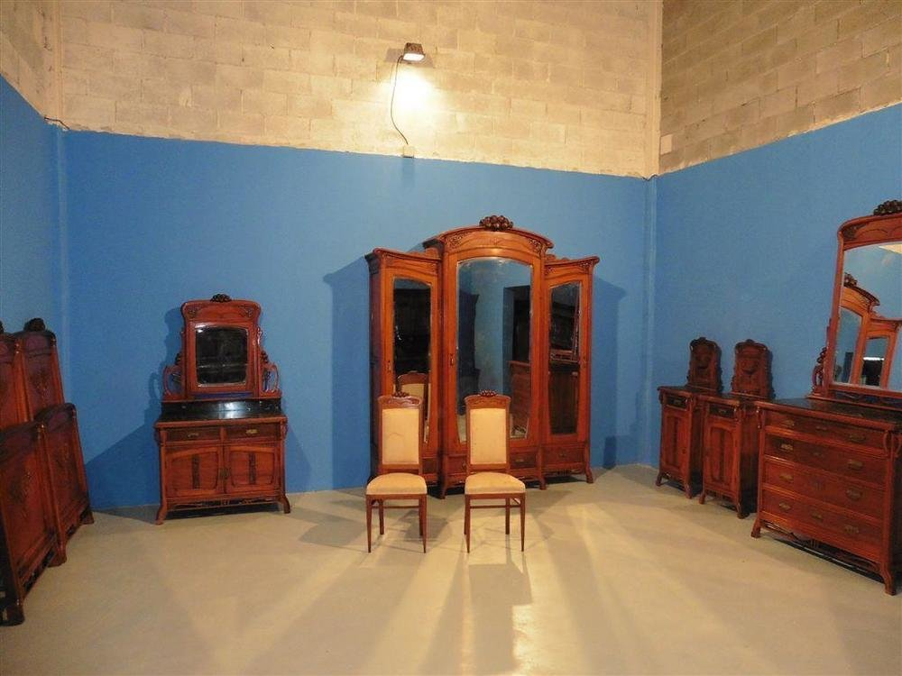 Best Antique Art Nouveau Italian Antique Bedroom Set Beds With Pictures