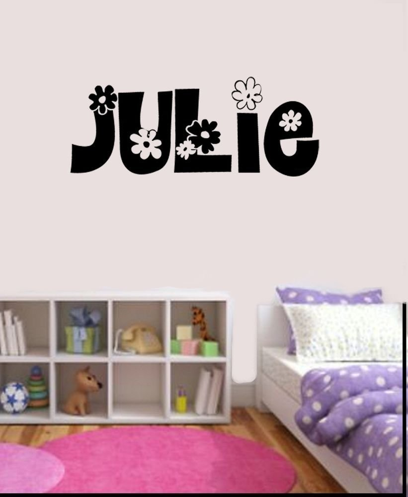 Best Girls Personalized Flower Name Decal Wall Sticker Bedroom With Pictures
