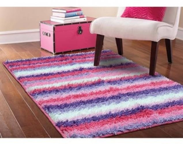 Best Pink Sh*G Area Rug Striped Girls Kids Bedroom Furniture With Pictures