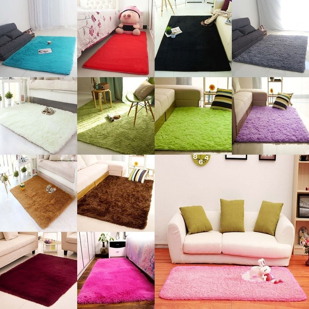 Best Super Soft Modern Sh*G Area Rug Living Room Carpet Bedroom With Pictures