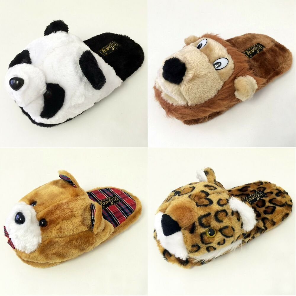 Best Women S Animal House Slippers Plush Fuzzy Cushion Cozy Bedroom Shoes S M L Xl Ebay With Pictures