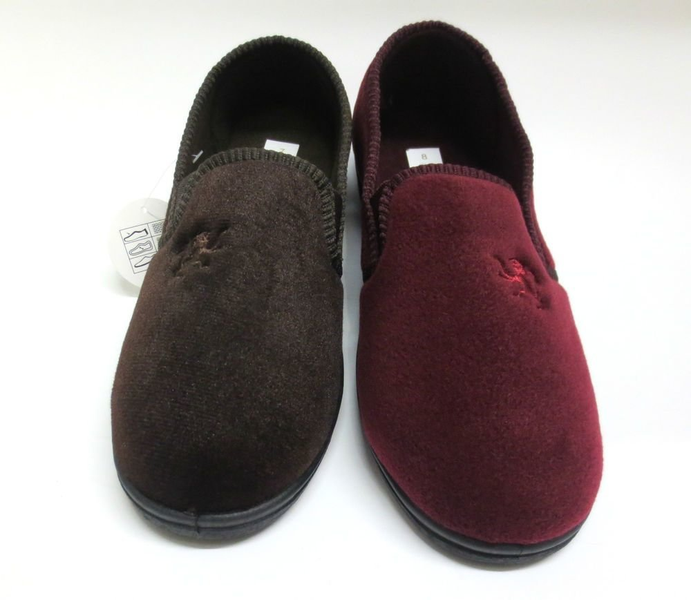 Best Four Seasons Bruce Mens Bedroom Slippers In Navy Brown Or With Pictures