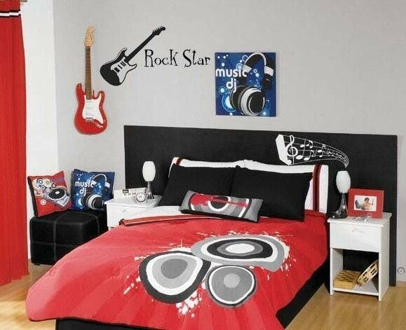 Best Rock Star Guitar Wall Decal Vinyl Sticker Music Band With Pictures