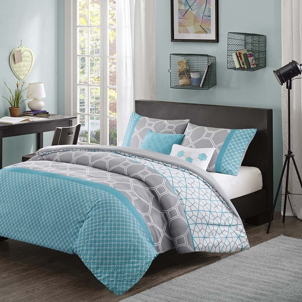 Best Modern Sporty Blue Grey Teal Aqua Stripe Chevron Soft With Pictures