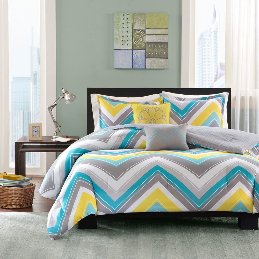 Best Sporty Blue Teal Yellow Grey White Chevron Stripe With Pictures
