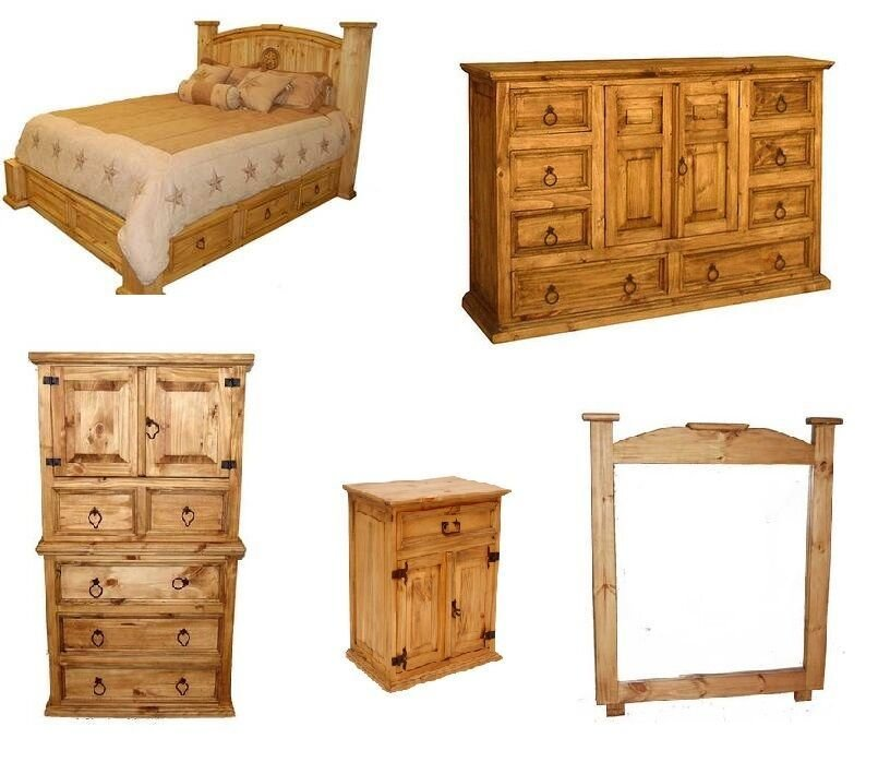 Best Rustic Western 5Pc Mansion Storage Bed Bedroom Set Full With Pictures