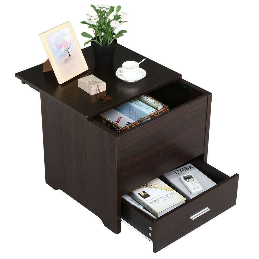 Best Bedroom Nightstand End Table Bedside Storage Drawers With Pictures