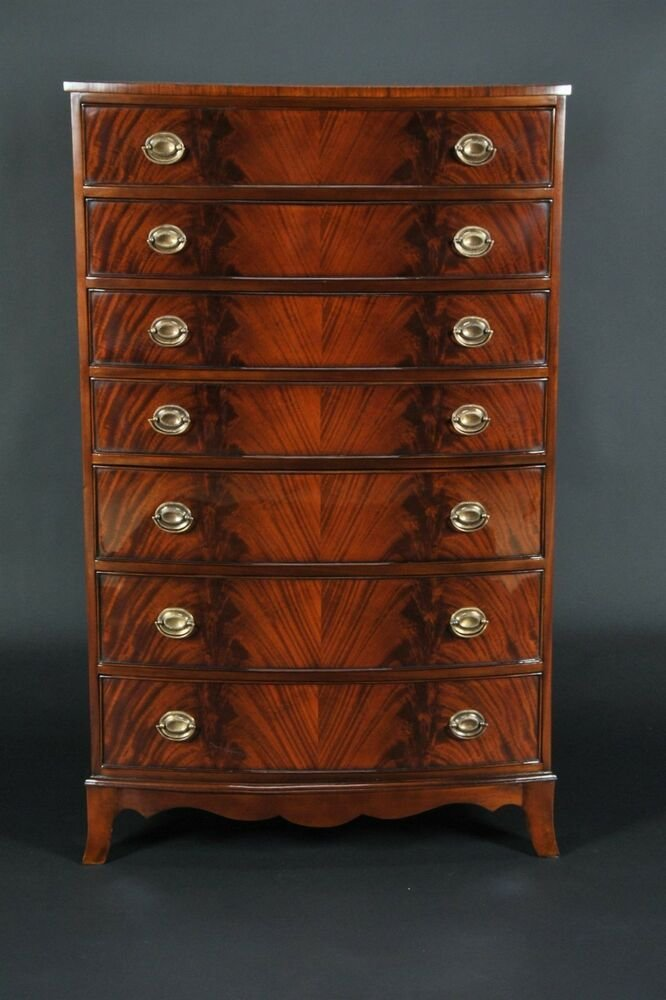 Best Antique Style Mahogany Bedroom Set High Chest Ebay With Pictures