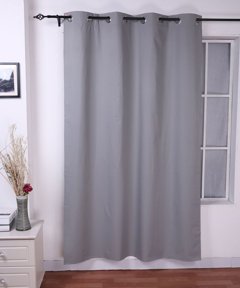 Best Bedroom Thermal Insulated Window Curtains Light Grey Panel With Pictures
