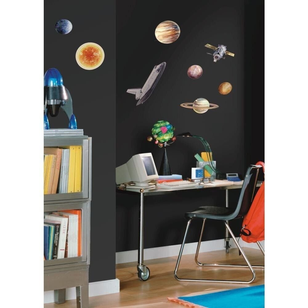 Best New 24 Outer Space Travel Wall Decals Sun Stars Planets Stickers Kids Room Decor Ebay With Pictures