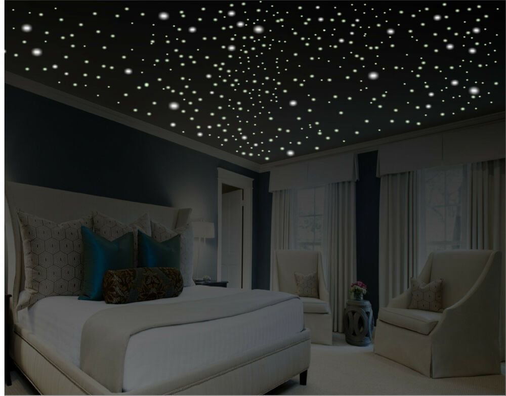 Best Romantic Bedroom Decor Glow In The Dark Ceilng Stars With Pictures