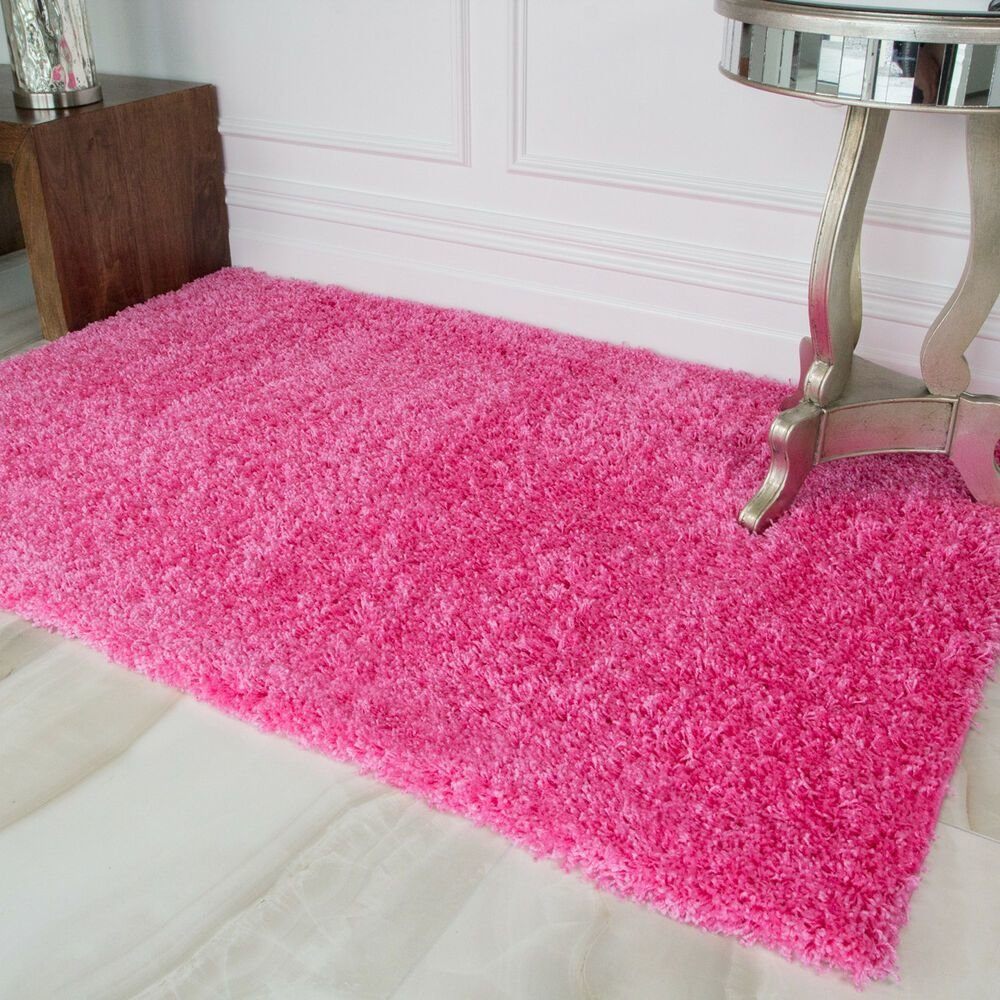 Best Candy Pink Girls Shaggy Rug For Living Room Bedroom House With Pictures