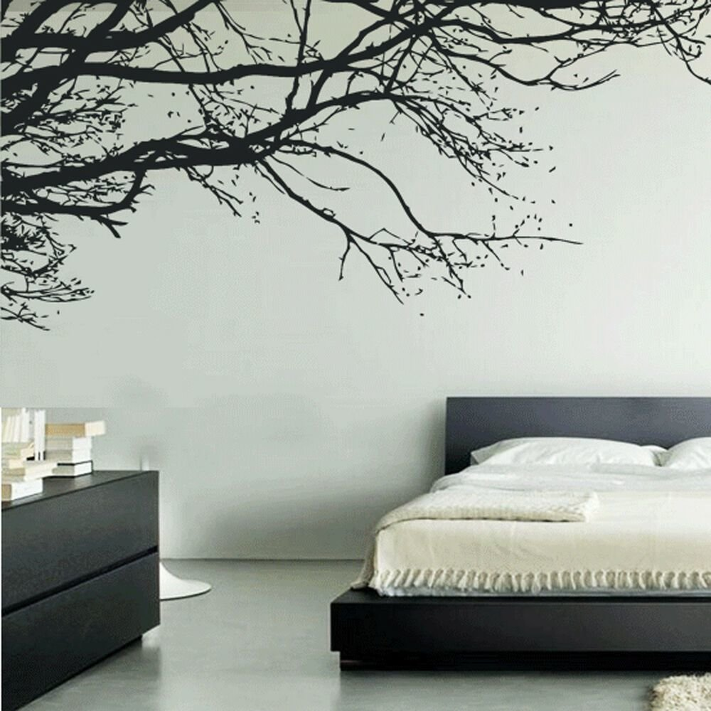 Best Tree Branches Leaves Blowing Wall Art Stickers Decal With Pictures