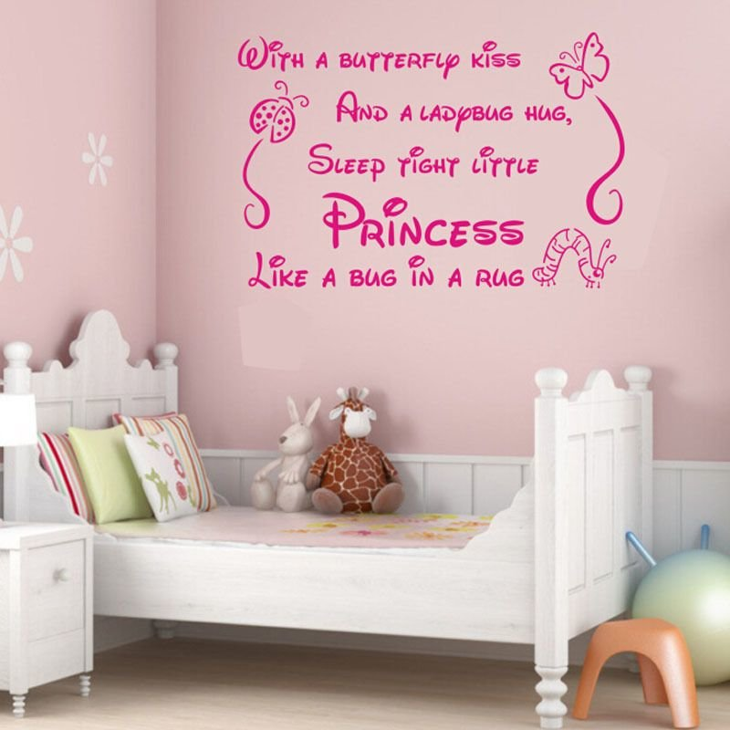 Best Princess Quote Lettering Saying Girl Baby Nursery Bedroom Wall Sticker Decal Ebay With Pictures
