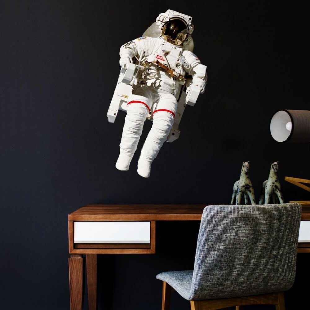 Best Astronaut Wall Sticker Nasa Space Theme Decal For Bedroom Playroom And Study Ebay With Pictures