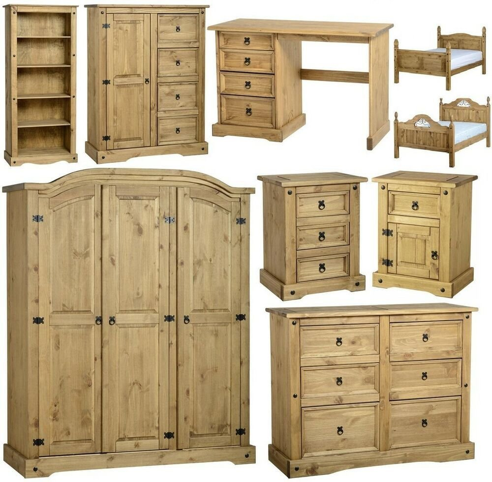 Best Mexican Pine Corona Bedroom Furniture Wardrobe Drawers With Pictures