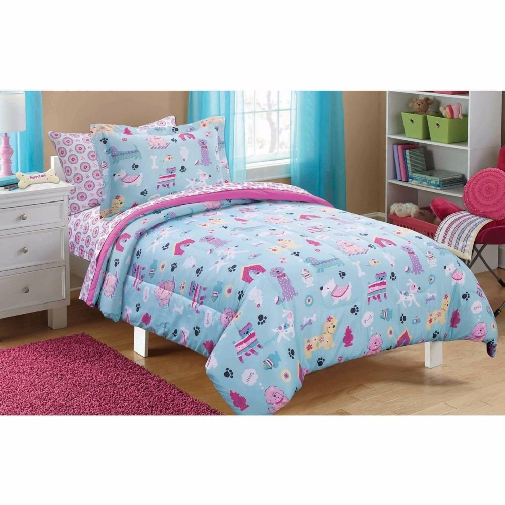 Best New Puppy Dog Love Bed In A Bag Bedding Comforter Sheets With Pictures