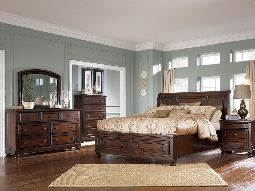 Best Ashley Furniture B697 Porter Queen Or King Sleigh Storage Bed Frame Bedroom Set Ebay With Pictures