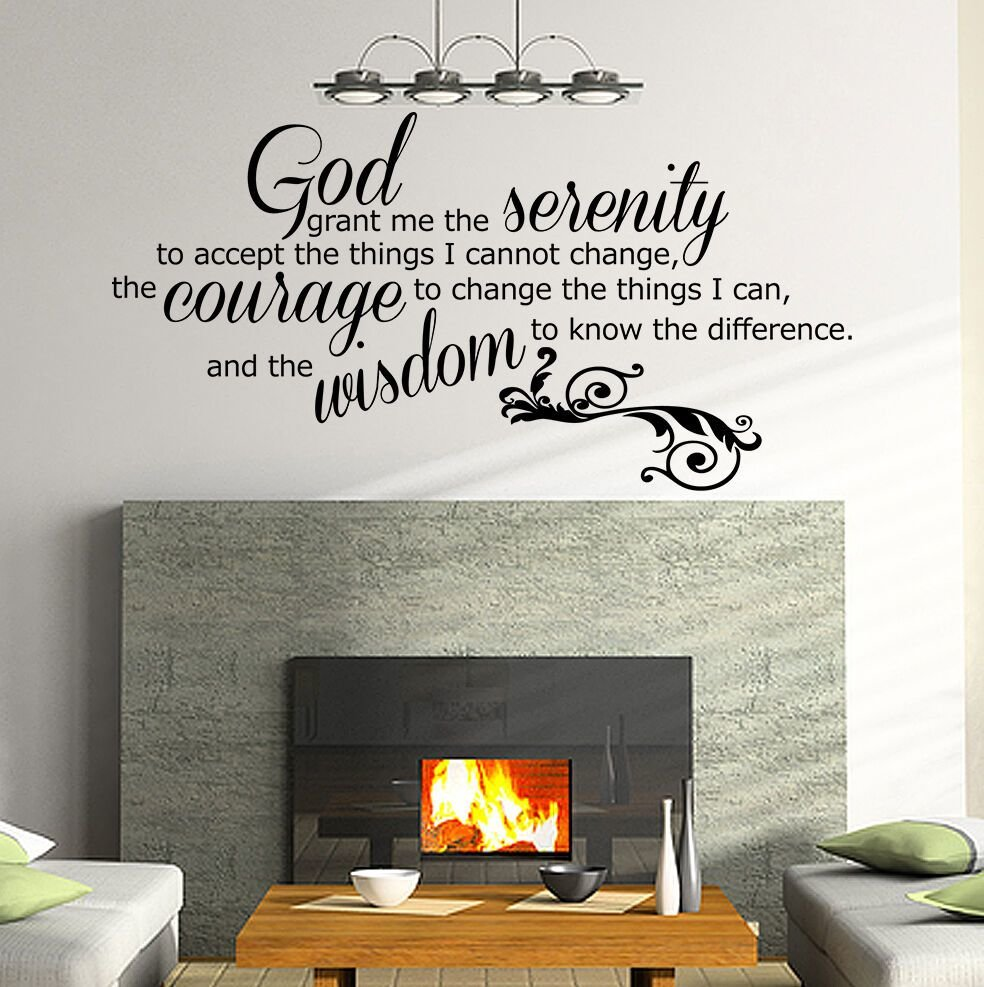 Best Quote Decal Sticker Vinyl Wall Art Bedroom Home G*D Grant With Pictures